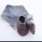 Grey Herringbone Baby Shoes & Bandanna Gift Set