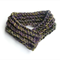 Neck warmer silk wool crocheted scarflette buttoned scarf Mothers' Day gift