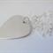 Sterling silver guitar pick plectrum necklace