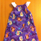 Girls Frozen Design Peasant Dress with flutter sleeve Size 4