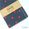 Charcoal Grey/Hot Pink Dots Upcycled Fabric Covered Notebook