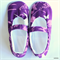 Ladies Purple Blossoms Slippers Size 8 - 9