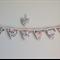 Mini Handmade Shabby Chic Fabric Bunting Garland Decoration