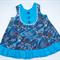 Baanbaan print, A-line dress, round neck, Size 1