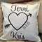 Personalised couples with Date love cushion case
