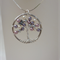 Swarovski Pearl Handmade Twisted Wire Tree Necklace – Cool Hues