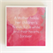 Mother Quote Coaster - 1 Watercolour Ceramic Tile Drink Coaster Mother's Day