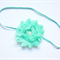 Sophia - Aqua shabby flower headband