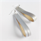 Soft Pearl Silver Blue Retro leather earrings - recycled leather