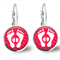Mum & Bubs - Leaver Back Glass Cabochon Earrings