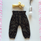 Black & Gold High Waist Harems - girl, baby, winter, summer, birthday, luxe