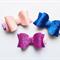 Glitter Bow Hair Clip Set (Pink-Royal blue-Light pink)