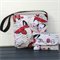 Butterfly print bag and purse