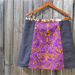 Vintage 70's purple and gold with denim