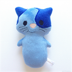 Blue Kitty Cat Rattle Toy