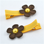AFL Footy Hair Clips - Hawthorn
