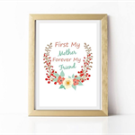 Mothers Day Wall Art Print