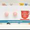 Pink iced cupcakes on top stud earrings