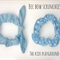 Set of 2, Bec Bow Scrunchies, Soft Blue Pack