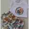 Size 000 paisley nappy cover and singlet set