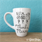 Mother's Day Mug gift. Hand lettering funny quote. Laundry, clothes symbols.