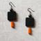 Wood and Hematite Earrings