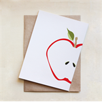 Greeting Card, Blank, Apple, All Occasion,