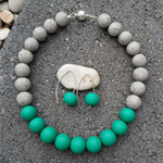 Lucille Ball Necklace - Jade/Granite