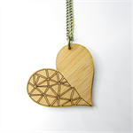Bamboo Geo Heart Pendant