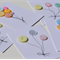 Hand made Button Birthday / Celebration Cards Set of Five