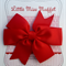 Red Pinwheel  Bow hair clip