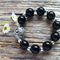 Black Onyx Gemstone Bead Bracelet