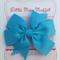 Blue Pinwheel Bow Hairclip