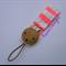 Orange Pink Neon Stripe Wooden Pacifier Dummy Clip Holder Coral Fluro Fabric
