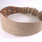 Reversible faux suede and floral fabric headband
