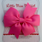 Pink Pinwheel Bow Hairclip