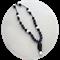 Yogi length silicone jewel pendant necklace