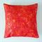 Cotton Cushion Cover - Orange Tye Dye Butterflies