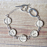 To Kill a Mockingbird Bracelet. Silver Literature Text Words Upcycled Modern