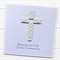 Cross Personalised card spots Christening Baptism Holy Communion Confirmation