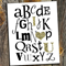 Alphabet with Gold Sparkle 8 x 10 Wall Print