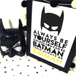 be batman superhero batman Wall Art Print Decor Baby Nursery Kid