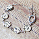 Pride and Prejudice Bracelet. Silver Literature Text Words Upcycled Modern