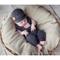 Baby Boy Overalls & Newsboy Set / Newborn Photography Prop / Grey