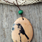 Wooden bird photo pendant