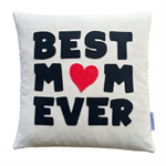 Mother's Day Gift Cushion, quality Organic cotton, Recycled felt.