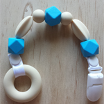 Silicone Beaded Dummy Clip in Blue