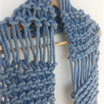 "Super Chunky Australian Pure Wool Scarf ""Francis"" - handmade by musuDesigns"