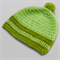 baby crochet beanie | green stripes, pom pom | toddler | gift | 6 – 12 months