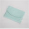 Padded Envelope Style Pouch - Mint  and White Spot